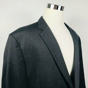 Jos A Bank Mens 52R Sport Coat 100% Wool Charcoal